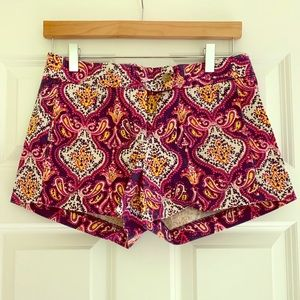 Rare! J. Crew Paisley Chino Shorts
